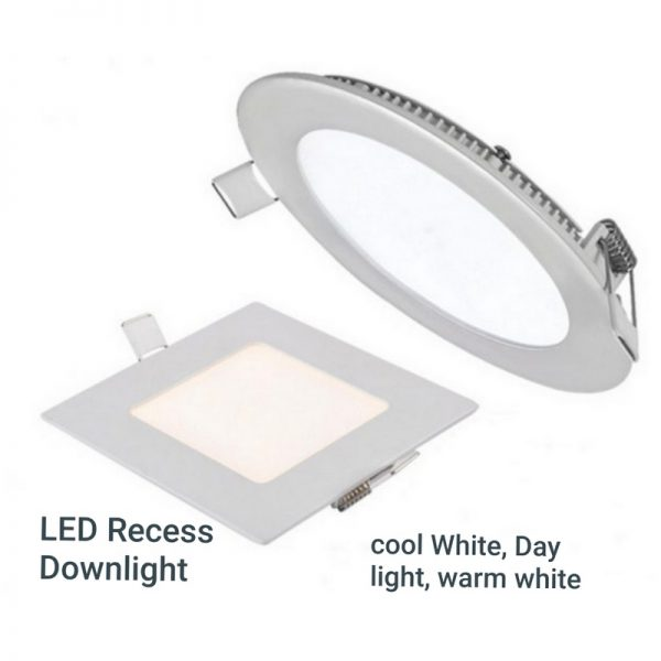 LED Recess Downlight – Day Light, Cool White, Warm White