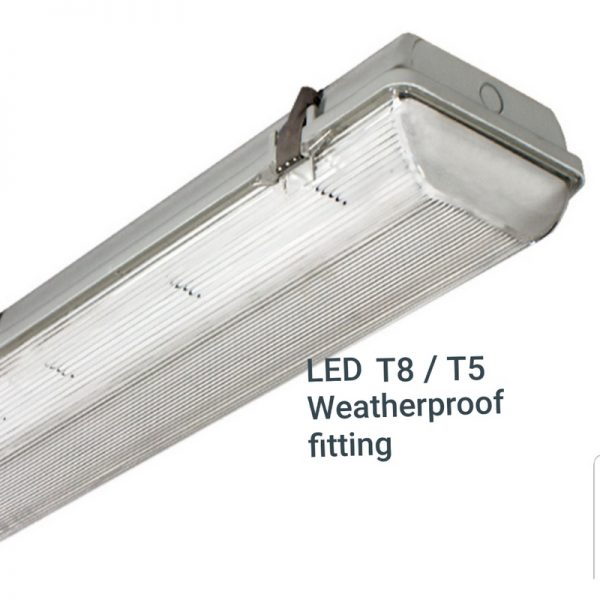 LED T8, T5 Weatherproof Fitting